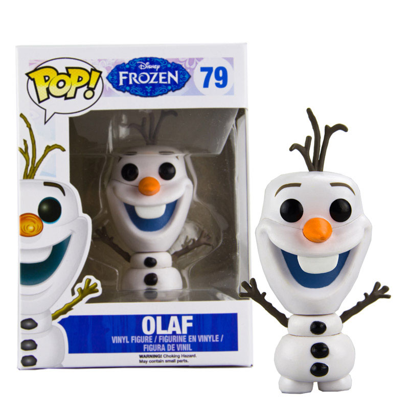 FUNKO POP Disney Cartoon Movie Frozen OLAF #79 PVC Action Figure Brinquedos Collection Model Toys For Children Birthday Gift