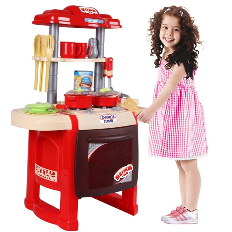 Pretend Kitchen Toys Play Musical Multifunctional Sooktops Funny Electronic Classic Tableware Learning Education Box Package sassy seat doorway jumper 5 toys with musical play mat