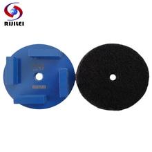 RIJILEI 12 PCS/Set Diamond grinding disk Diamond Grinding Wheel for Concrete Floor Polishing Marble Grinding shoes V30B цена 2017