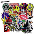 4 Style 50 Pcs Do Not Repeat PVC Waterproof Fun Sticker Toys The Luggage Fashion Laptop Stickers Handbag Decoration Stickers