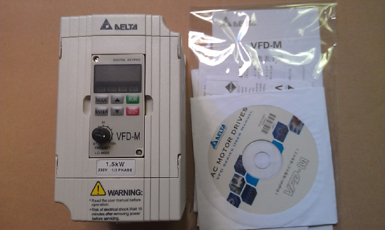 VFD015M21A DELTA VFD-M VFD Inverter Frequency converter 1.5kw 2HP 1PHASE 220V 400HZ for Small processing machinery vfd110cp43b 21 delta vfd cp2000 vfd inverter frequency converter 11kw 15hp 3ph ac380 480v 600hz fan and water pump
