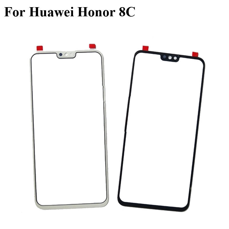 2pcs 6 26 u0026quot  for huawei honor 8c glass lens touchscreen touch screen outer screen for honor 8 c