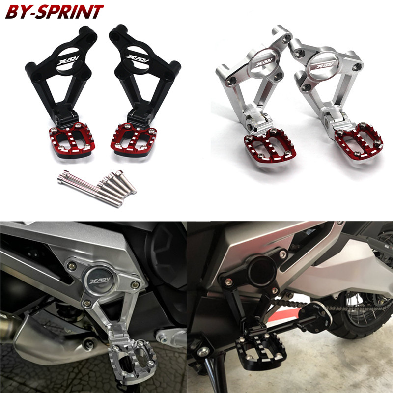 X-ADV 750 Rear Foot Motorcycle CNC Rear Footrest Foot Pegs Pedal Passenger Rearsets For HONDA XADV X ADV 750 2017 2018X-ADV 750 Rear Foot Motorcycle CNC Rear Footrest Foot Pegs Pedal Passenger Rearsets For HONDA XADV X ADV 750 2017 2018