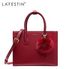 LAFESTIN Women Fashion Totes Leather Handbags Versatile Bag Ladies Single Crossbody Bags Female Bags High Quality