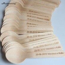 100 пользовательское имя и дата свадебные мини-ложки маленькие чайные ложки с надписью сердца юбилейный свадебный душ Аксессуары для помолвки