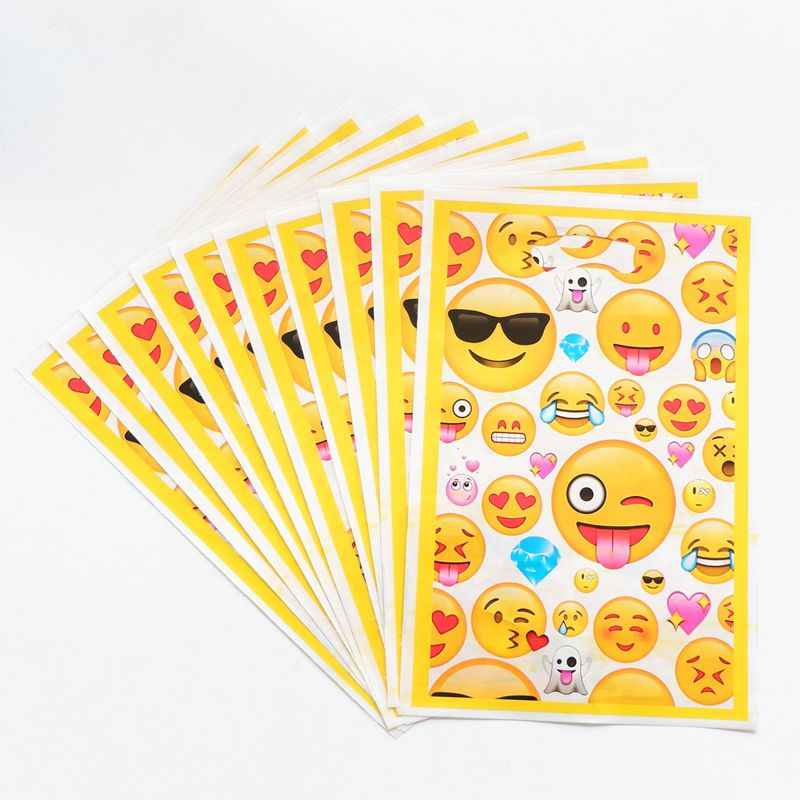 Detail Feedback Questions About 10pcs Lot Emoji Theme Boy Girl Baby Happy Birthday Party Decoration Decorations Kids Loot Bag Gift On