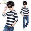 Brand Boys T-Shirts Long Sleeve Striped Tees Shirts For Boys Clothes Cotton School Kids Tops Spring Children Clothing H023