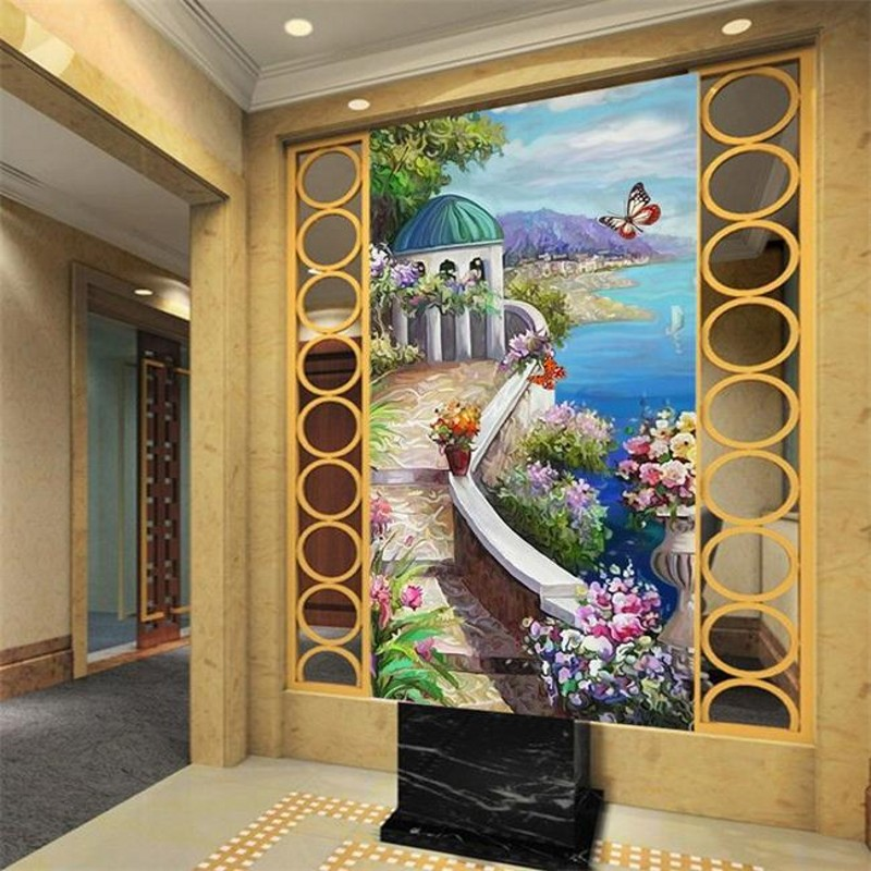 Freies Verschiffen 3d Fresko Stereo Tv Hintergrund Wand Tapete Wohnzimmer Schlafzimmer Wald Natur Wallpaper Mural