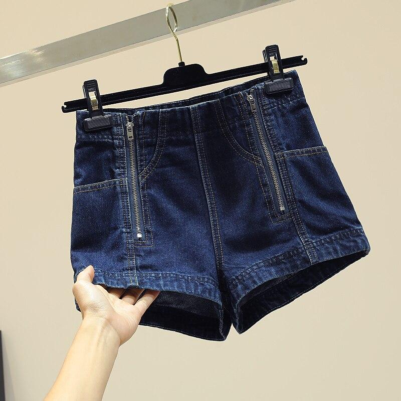 Haute Simple Dames Large Short Zipper Nouvelle Femmes Jean Double Femelle En De Printemps Pantalon Pants Étudiants taille Jeans 2019 Bleu Hot Jambe 1w06gqf