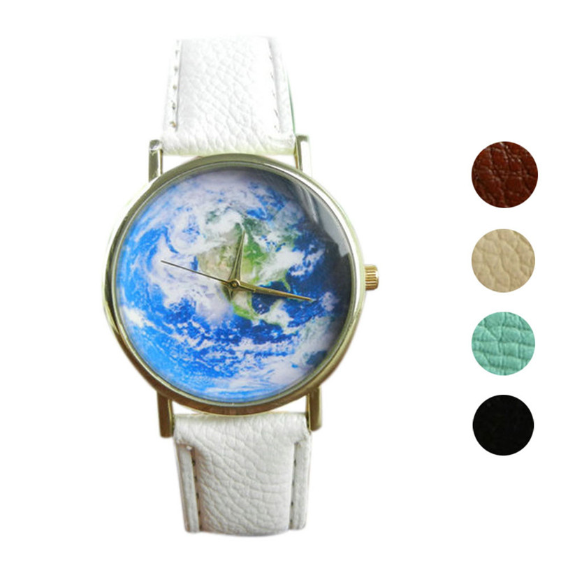 OTOKY Perfect Gift Map Pattern watches women Leather Band Analog Quartz Wrist Watch  June06PP