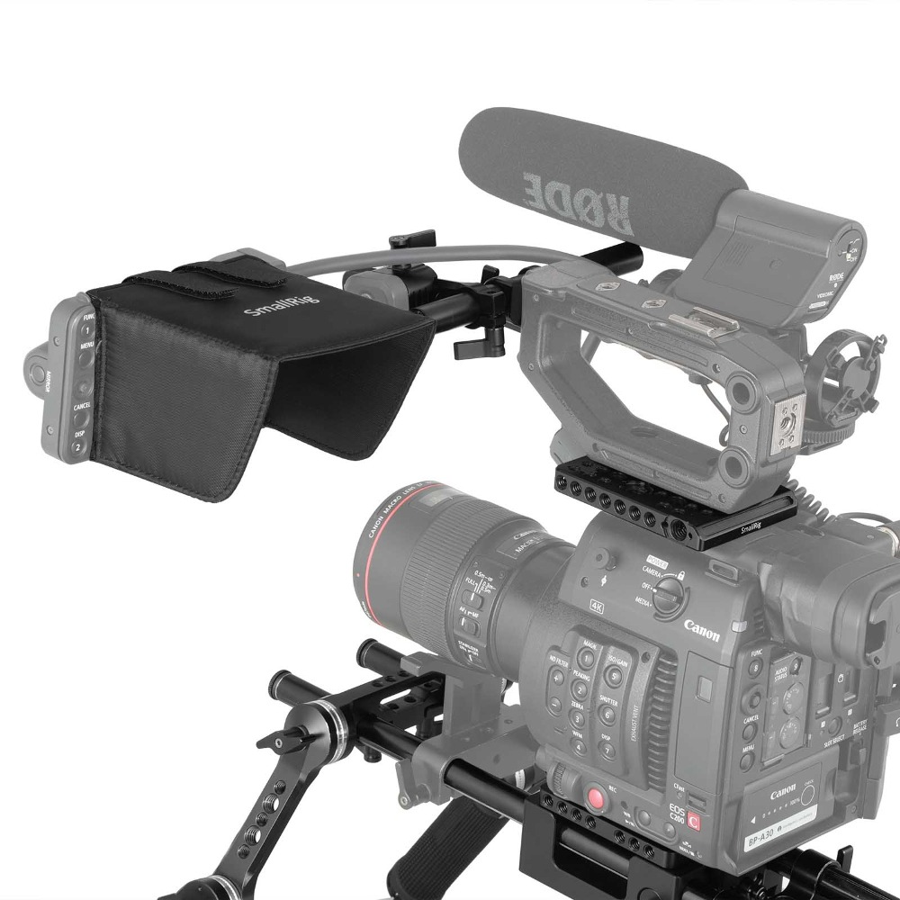 US $573 64 16% OFF|SmallRig Camcorder Professional Accessory Kit for Canon  C200 and C200B With Shoulder Support System 2126-in Camera Cage from