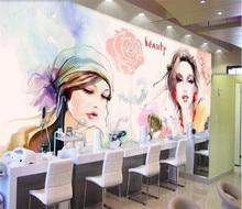 Custom wallpaper watercolor beauty beauty shop nail shop background wall clothing store home decoration 3d wallpaper цена 2017