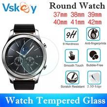 VSKEY 100 PCS Universele Ronde Smartwatch Gehard Glas Diameter 37mm 38mm 39mm 40mm 41mm 42mm Screen Protector Beschermende Film