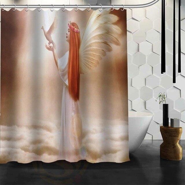 Benutzerdefinierte Engel Elfen Duschvorhang Wasserdicht Badezimmer