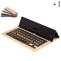 Wireless Universal Keyboard for All Tablet Cell Phones Bluetooth Keyboard Case For iPad/Microsoft/Android Fold Cover+Pen