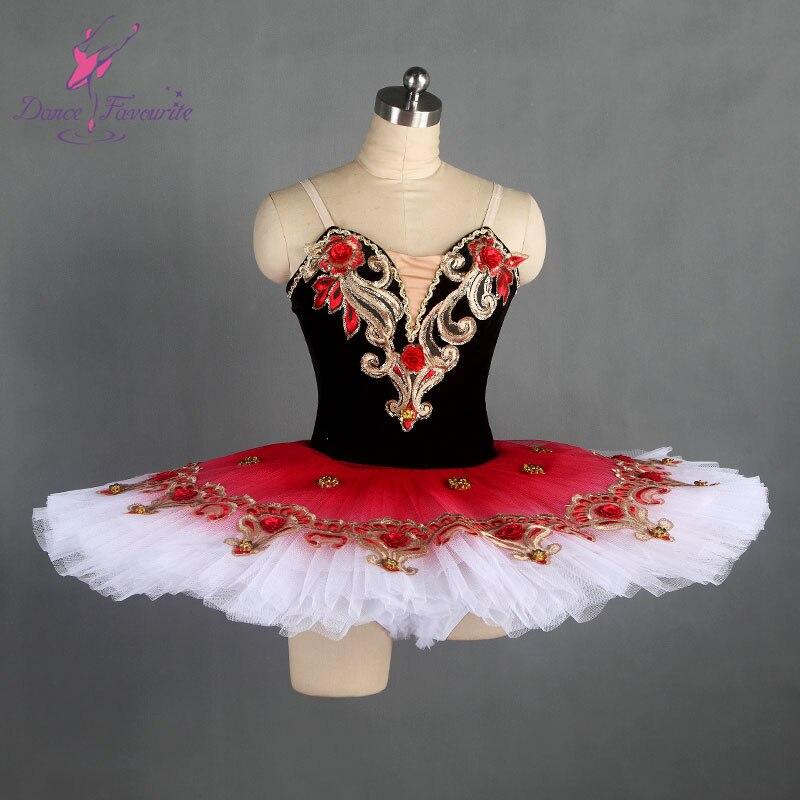 black stretch velvet bodice ballet costume tutu professional pancake tutu women and girl stage costume tutu