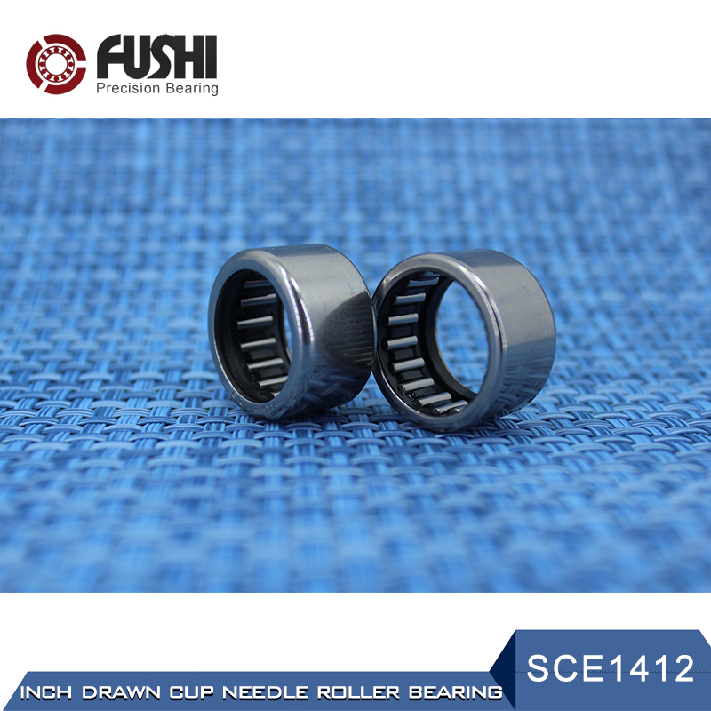 SCE1412 Bearing 22.22*28.57*19.05 mm ( 2 PCS ) Drawn Cup needle Roller Bearings B1412 BA1412Z SCE 1412 Bearing na4910 heavy duty needle roller bearing entity needle bearing with inner ring 4524910 size 50 72 22