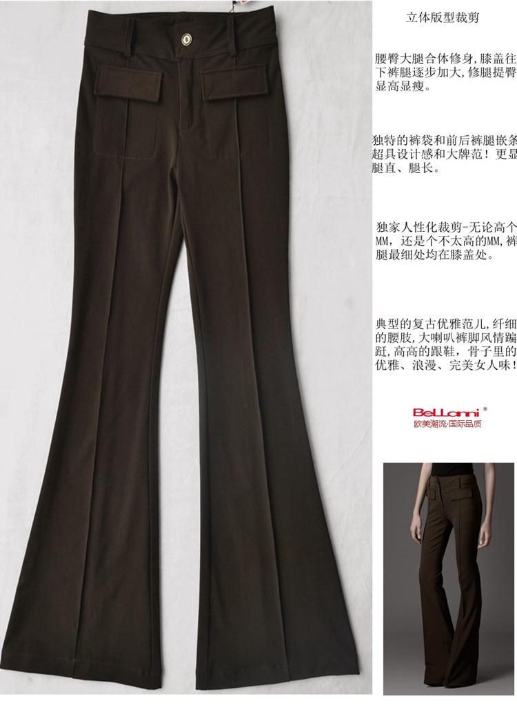 coffe Flare S'adapter De Slim A 160 Peut Pantalon Nouvelle Plus À Taille Été Black Élastique 2018 Hauteur Angleterre Mince Wq13 Style Cm 200 Cm Marque Mode Ev4qwB6