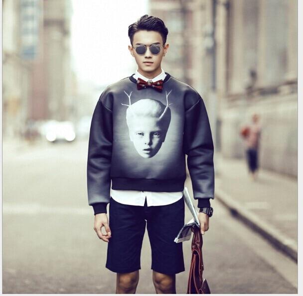7c3ce0cb9303 2014 Fashion man hoody sudaderas crewneck sweatshirt brand hoodies men  streetwear russian kids head printed