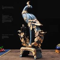 Европейские смолы темно синий Феникс украшения творческий большое количество фигурки украшения для дома, чтобы двигаться Свадебные настол