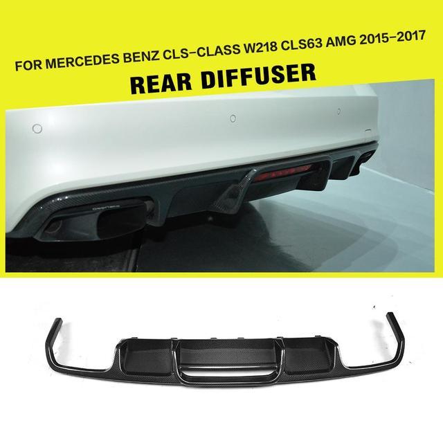 Carbon Fiber / FRP Car Rear Diffuser Lip Bumper Gaurd for CLS-Class Mercedes Benz W218 CLS63 AMG Sedan 4-Door 2015 - 2017