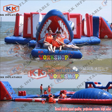 Outdoor water flushing inflatable floating park inflatable floating water game cheap inflatable water park for sale