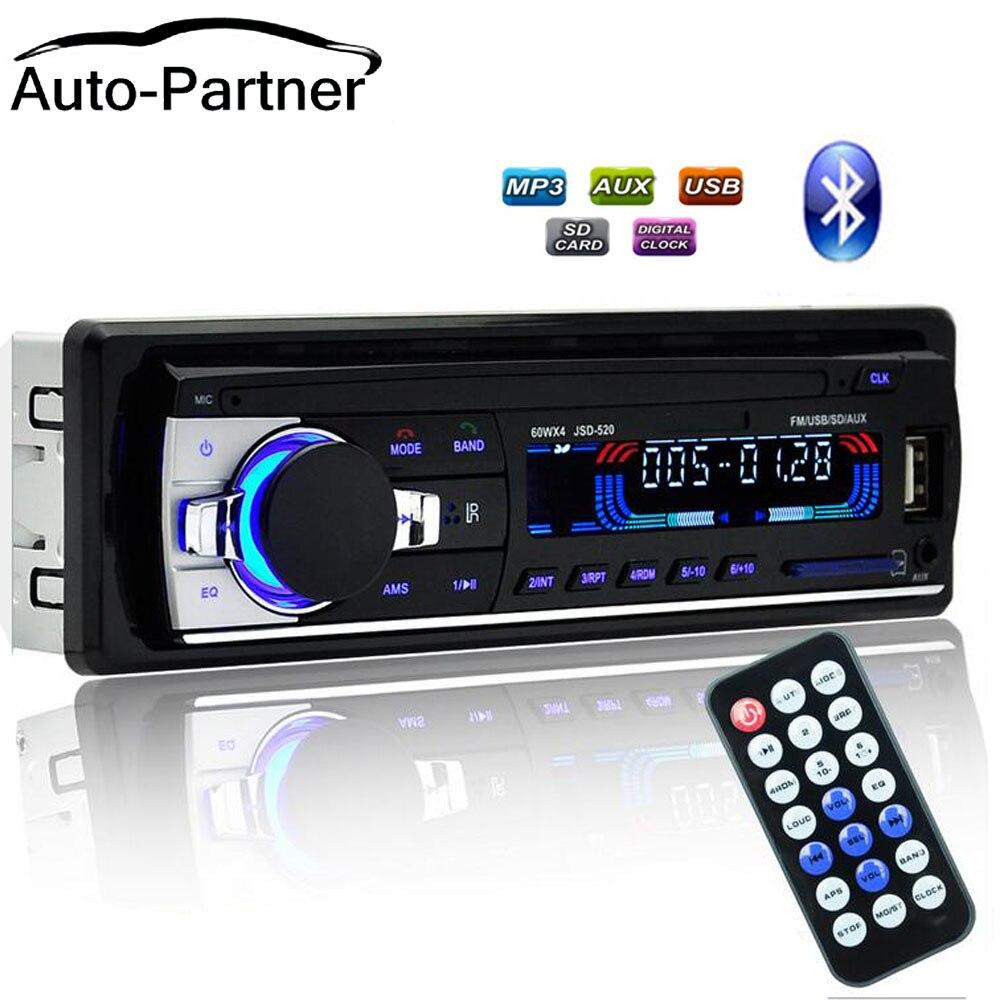 Car Radio Bluetooth 1 din car stereo Player autoradio Phone AUX-IN MP3 FM/USB/radio with Remote control(China)