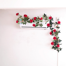 Artificial Flowers garland rose flower home decor Ivy Vine wall Wedding Decoration Real Touch Silk Flower String Hanging Garland