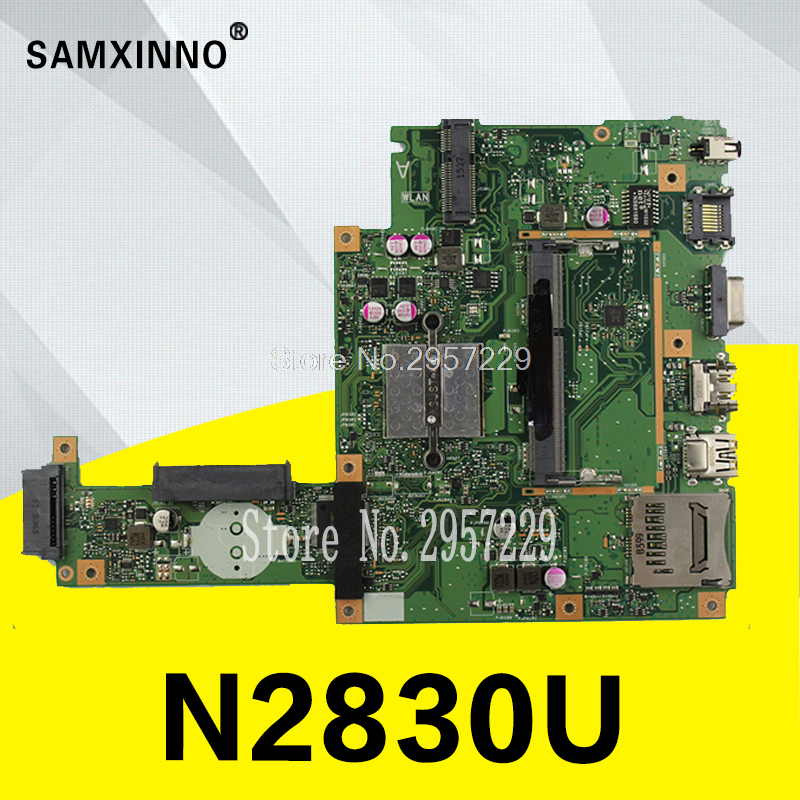 Original X453MA X403MA motherboard for Asus Main board REV2.0 DDR3 N2830 100% Tested 60NB04W0-MB2000-200 Test Well pn1906386602 communication board fittings of a machine tested well original
