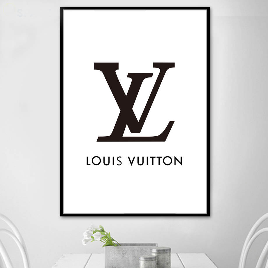 Us 4 96 29 Off Fashion Paris Brand Logo L V Wall Art Canvas Painting Nordic Posters And Prints Wall Pictures For Living Room Pop Wall Art Decor In