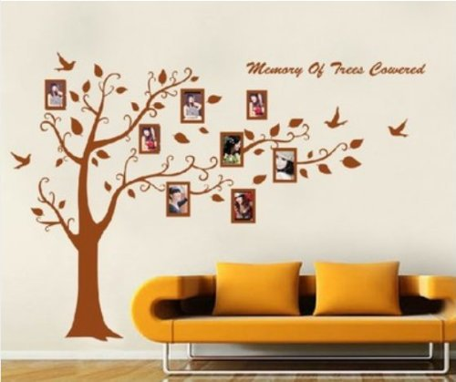 Sentiments Tree Wall Decor : Free shipping new design vinyl wall stickers frame tree
