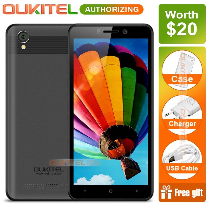 Oukitel C10 5.0 pouces 18:9 affichage 3G Smartphone 1 GB + 8 GB MTK6580 Quad Core 1.3 GHz double SIM 2000 mAh Android 8.1 téléphone Mobile
