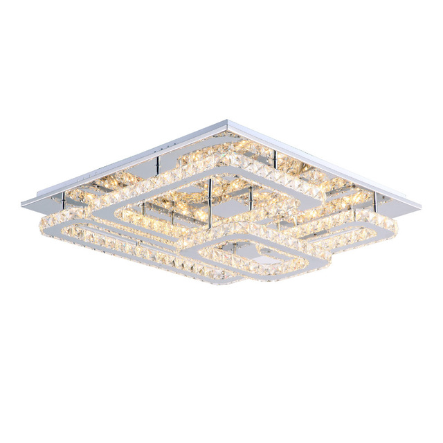 Modern led crystal ceiling lights flush mount ceiling lamp 65cm modern led crystal ceiling lights flush mount ceiling lamp 65cm transparent k9 crystal stainless steel flush aloadofball Gallery