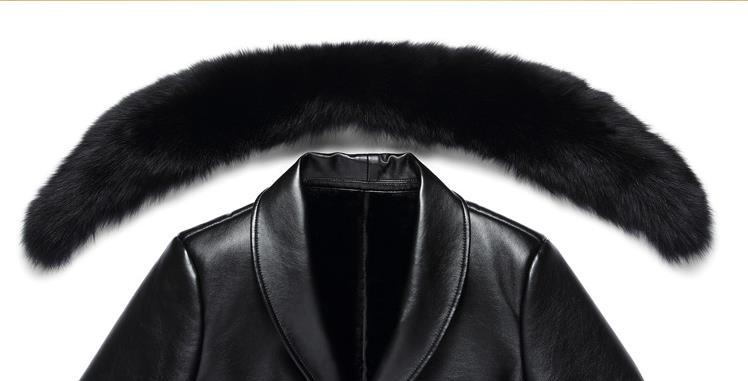 HTB1b15UaiYrK1Rjy0Fdq6ACvVXaR BATMO 2019 new arrival winter high quality real leather fox fur collars trench coat men ,men's winter Wool Liner parkas AL18