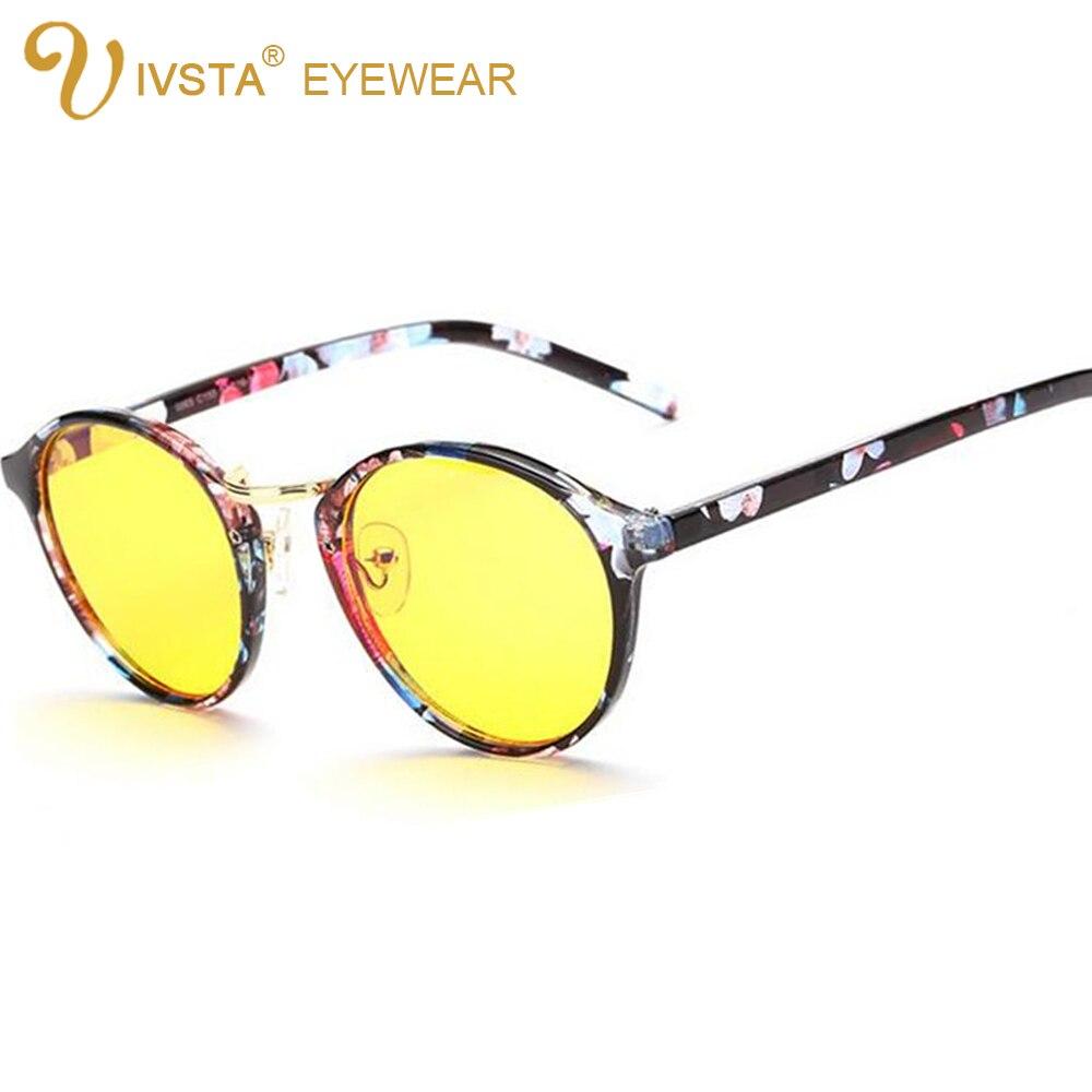 05b5987b76 IVSTA 8065 2016 New Fashion Brand Designer Cat Eye Glasses Women Pink Anti  Blue Rays Anti Glare for White Collar Computer Glass-in Eyewear Frames from  ...