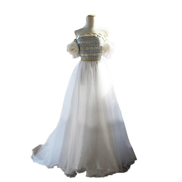 sailor moon princesa serenity tsukino usagi cosplay vestido blanco