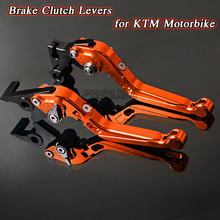For KTM 690 Duke SMC SMCR EnduRo R ADVENTURE 1050 2014 2015 2016 Motorbike Levers Motorcycle Brake Clutch Levers Foldable цена и фото