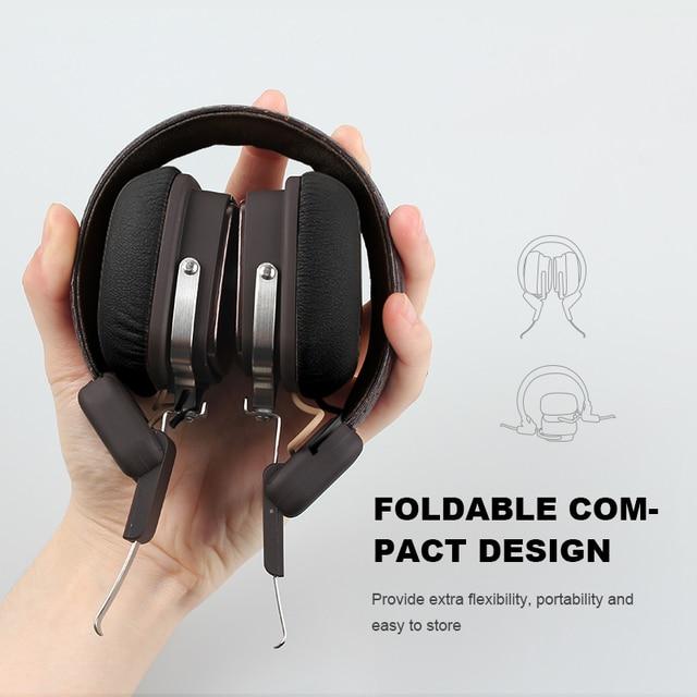 OneOdio Original Elysium Wireless Headphones Bluetooth Foldable Headset With Mic Metal Lightweight Headphone 500mAh Black/ Beige