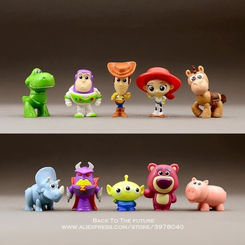 Disney Toy Story Woody Buzz Lightyear 3-4 cm figura de acción postura Anime  decoración colección figurita modelo de juguete para niños 1aee63802f8