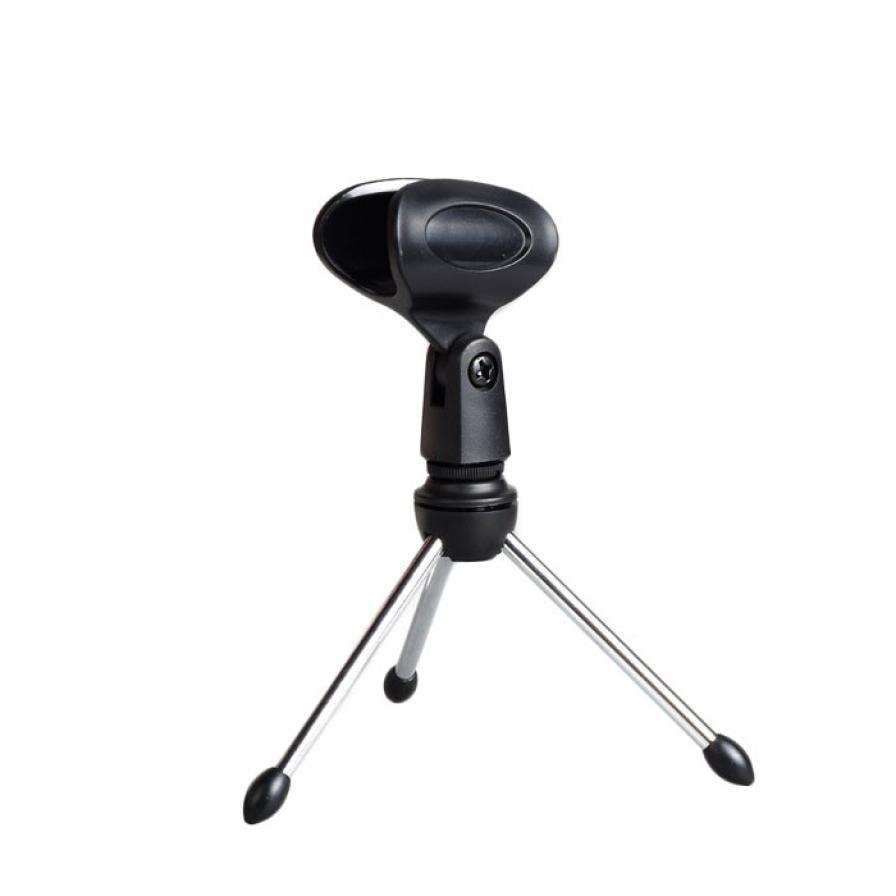hot sale adjustable metal desktop microphone mic stand clamp clip holder tripod for internet. Black Bedroom Furniture Sets. Home Design Ideas