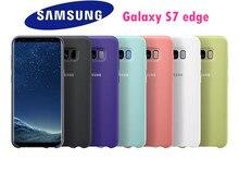 Оригинальный samsung телефон силиконовый чехол для samsung Galaxy S7 край задняя крышка Coque-7 цветов защиты от износа