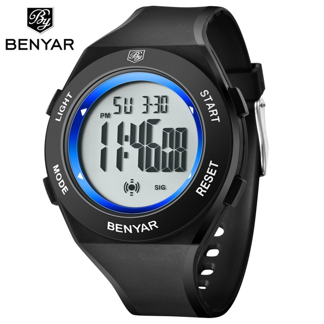 BENYAR Digital Watch Men Sports Watch 50M Waterproof Outdoor Led Watch for Men C