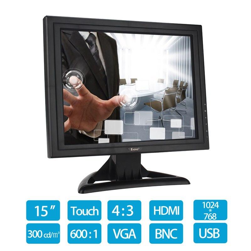 Eyoyo POS 15 Touch Screen LCD TouchScreen Monitor For Retail Kiosk Restaurant Bar