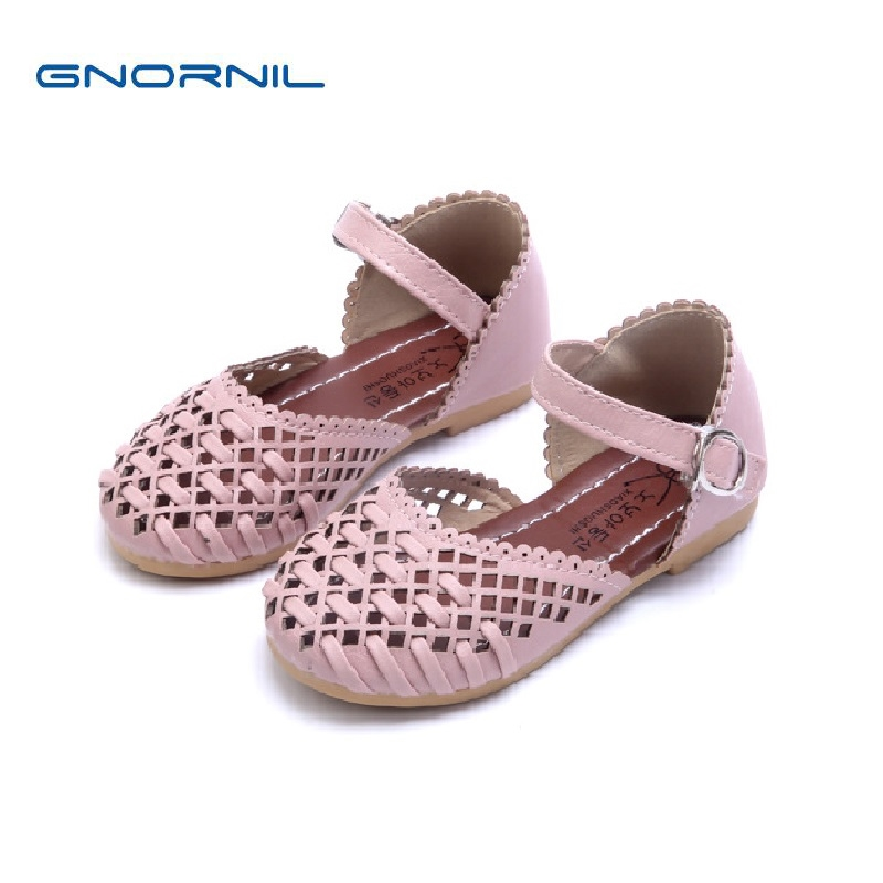 Children Shoes Girls Sandals 2020 Spring Summer Fashion Cutout Princess Girls Flat Soft Closed Toe Kids Sandals Girls Shoes