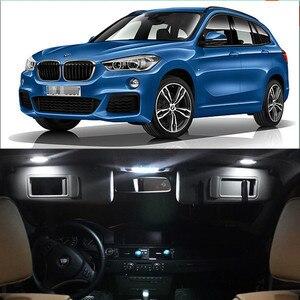 12 В, 12 шт. в наборе, T10 светодиодный светильник для BMW X1 F48, внутренний купол, карта, багажник, зеркало, комплект ламп, Стайлинг автомобиля