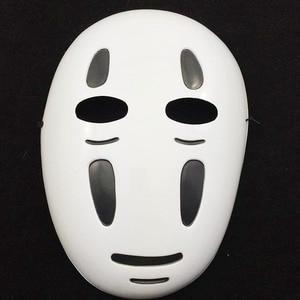 Image 3 - Kids / Adults Anime Movie Spirited Away No Face Man Cosplay Costume Full Set Halloween Costume Robe + Gloves + Black/Purple Mask
