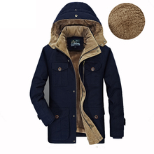 Новые Зимние Мужчины Куртку Бренд AFS JEEP мужской теплая Куртка пальто Хлопка Куртка И Пиджаки Мужская Меховая Куртка Мода Военная Куртка мужчины