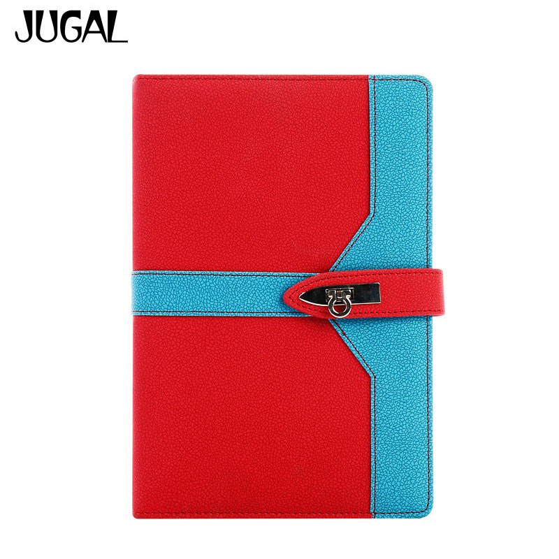 JUGAL 2018 Calendar Leather Notebook Week Planner Daily Plan Efficiency Manual Notepad Yearly Agenda Planner Stationery Gift