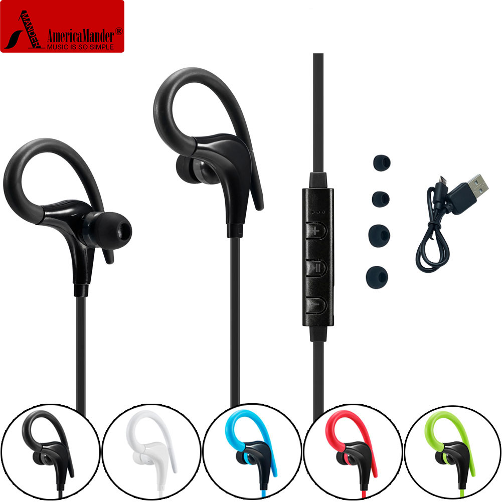 4.1 Wireless Headphone Bluetooth Earphone Bluetooth Headset Headphones Microphone AptX Sport Earphone for iPhone Android Phone цена 2016