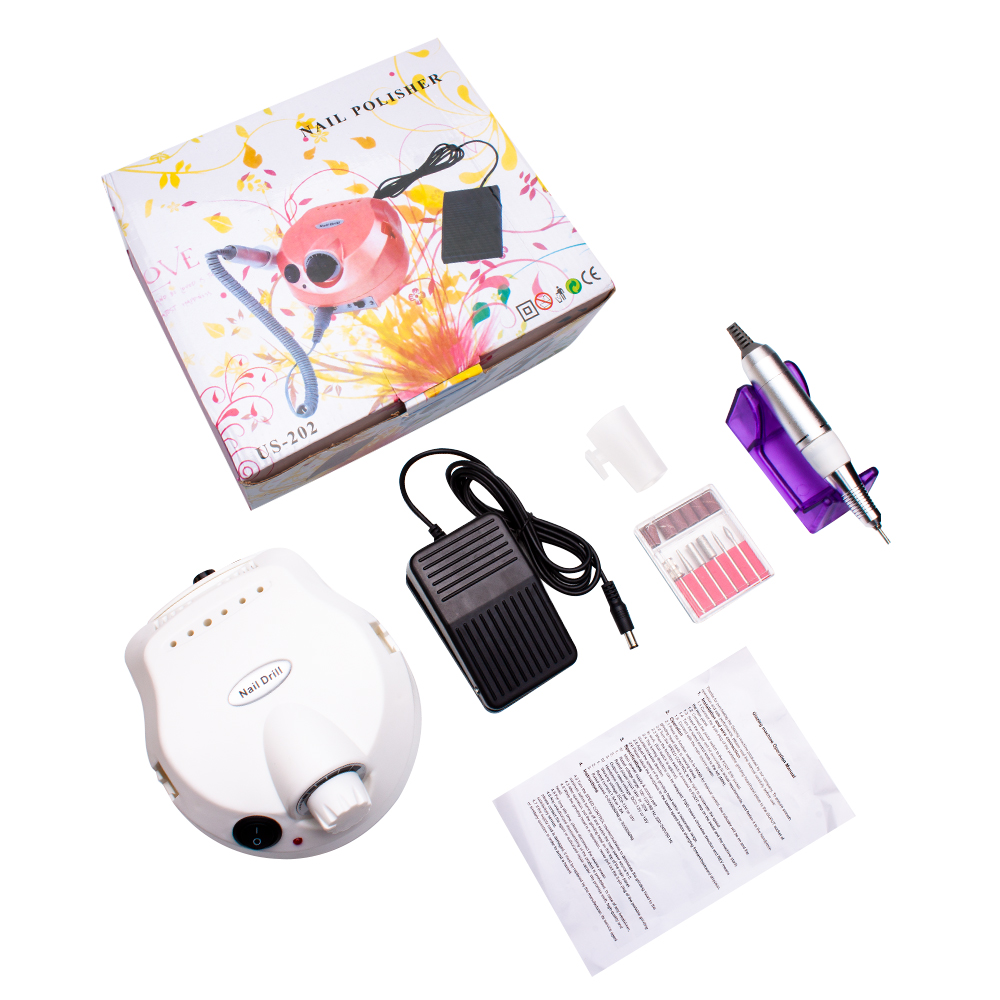 Image 3 - Ladymisty Machines For Manicure 30000rpm Nail Drill Bit Apparatus Pro Electric Nail Drill Machine Drills Accessory Pedicure KitElectric Manicure Drills   -